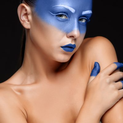 portrait-woman-covered-with-blue-paint